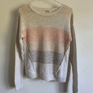 peachy sweater